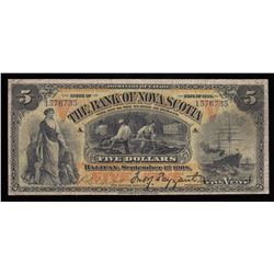 Bank of Nova Scotia $5, 1908