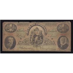 New Discovery - Bank of Toronto $4, 1876