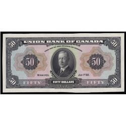 Union Bank of Canada $50, 1921
