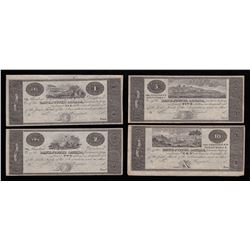 Bank of Upper Canada Proof Banknote Lot of 4