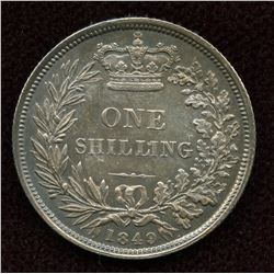 Great Britain. One Shilling, 1849
