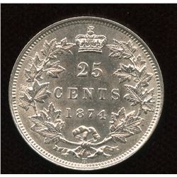 1874H Twenty-Five Cents