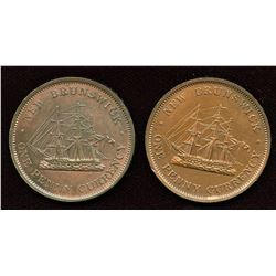 New Brunswick. Br. 911 Penny Tokens. Lot of 2