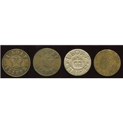 Iliffe Tokens. Lot of 4