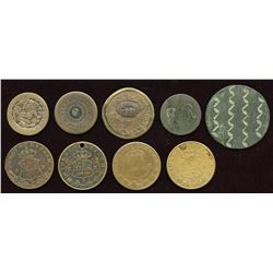 Miscellaneous Numismatic Items. Lot of 9
