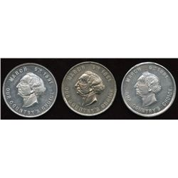 Banfield Medals. Lot of 3