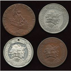 Champlain Medals. Lot of 4