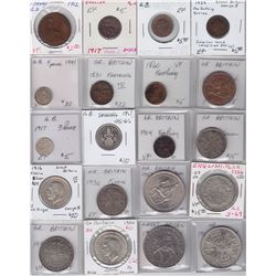 Great Britain Collection of 42 Coins