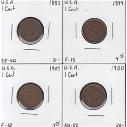 USA - Lot of 4 Indian Head Cents
