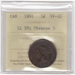 Canada 1891 One Cent