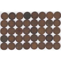 Canada Large Cent 1917 - Lot of 40