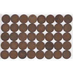 Canada Large Cent 1918 - Lot of 40
