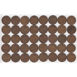 Canada Large Cent 1919 - Lot of 40