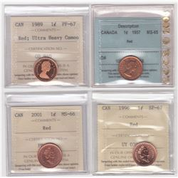 Canada One Cents Lot of 8 Coins