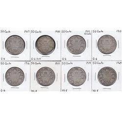 Canada Fifty Cents - Lot of 8