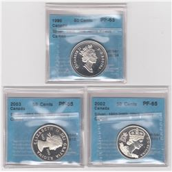 Canada Silver Fifty Cents - Lot of 3
