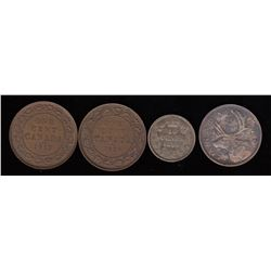 Canadian Coins Lot of 4