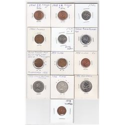 Canada Lot of Various Coin Errors and Varieties