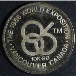 Canadian Vancouver Expo 10k Medallion, 1986