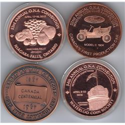 Canadian Coin Club Medals - Lot of 8