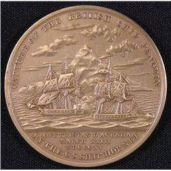 Capture of the British Ship Penguin by the US Ship Hornet Medal