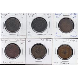 Lower Canada Tokens - Lot of 6