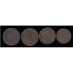 Lower Canada Tokens - Lot of 4