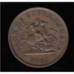 Bank of Upper Canada, 1852 - with large 2, One Penny.