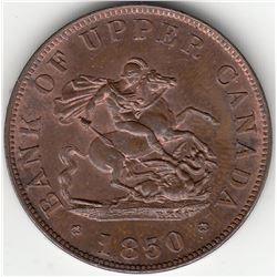 Bank of Upper Canada, 1850 - One Half-Penny.