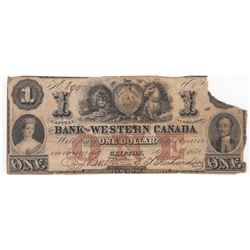 Government of Newfoundland 50 Cents Cash Note, 1913-14, & 1859 The Bank of Western Canada $1