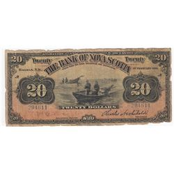 Bank of Nova Scotia $20, 1918