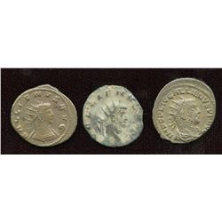 Gallienus (253-268 AD) Lot. Billon Antoninianus - Lot of 3