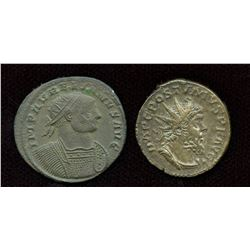 3rd Century Emperor Lot. Billon Antoninianus - Lot of 2