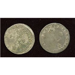 Br 508. Billon Double Sol of 24 Deniers. 1739 S. (Reims) - Lot of 2