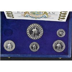 Empire of Iran - Set of 5 Silver Coins