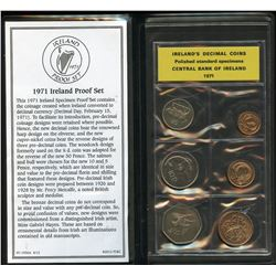1971 Ireland's Decimal Coins. Polished Standard Specimens. Central Bank of Ireland.