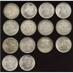 Lot of 14 USA Silver Dollars