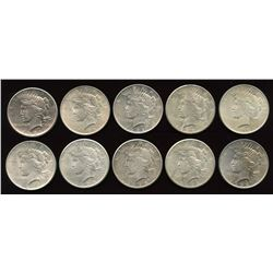 Lot of 10 USA Silver Dollars