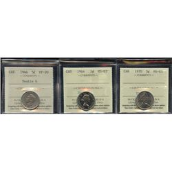 Lot of 4 Graded Five Cents