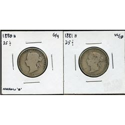 1880H & 1881H Twenty-Five Cents