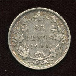 1891 Twenty-Five Cents