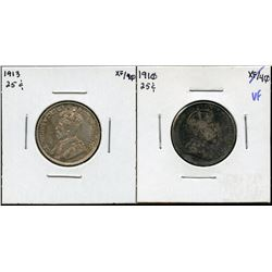 1910 & 1913 Twenty-Five Cents