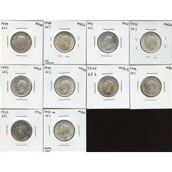 Twenty-Five Cents - Lot of 10