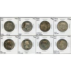 Lot of 8 Fifty Cents