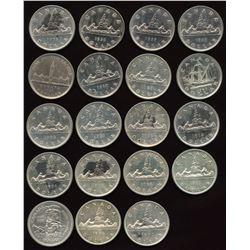Collection of Canadian Silver Dollars