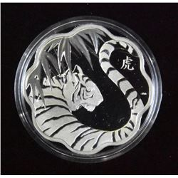 2010 Lunar Lotus Year of the Tiger $15 Coin