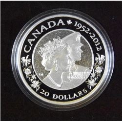 2012 Canada $20 The Queen's Diamond Jubilee (Double Effigy)