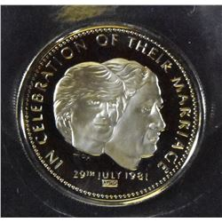 Foreign Medal - PRINCE OF WALES LADY DIANA SPENCER 1981