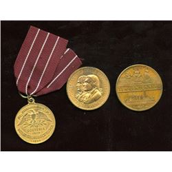 Lot of Three USA Exposition Medals.