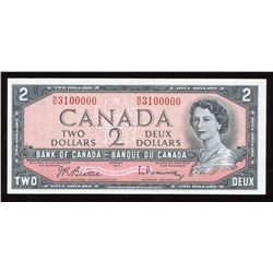 Bank of Canada $2, 1954 Interesting Serial Number